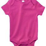 Infants'Short-Sleeve Baby Rib One-Piece