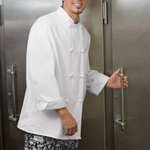 Eight Knot Button Chef Coat with Thermometer Pocket