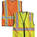Economy Vest with Contrast Zipper Front