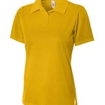Ladies' Textured Polo Shirt w/ Johnny Collar