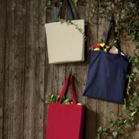UltraClub Organic Recycled Cotton Canvas Tote with Contrast Handles Thumbnail