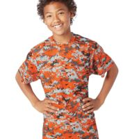 Digital Camo Youth Short Sleeve T-Shirt Thumbnail