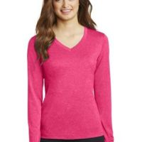 Ladies Long Sleeve Heather Contender ™ V Neck Tee Thumbnail