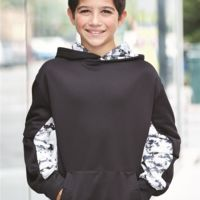 Digital Camo Youth Colorblock Performance Fleece Hooded Sweatshirt Thumbnail