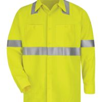 High Visibility Long Sleeve Work Shirt Long Sizes Thumbnail