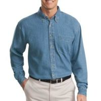 Tall Long Sleeve Denim Shirt Thumbnail