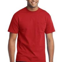 Tall 50/50 Cotton/Poly T Shirt with Pocket Thumbnail