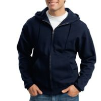 Super Sweats® Full Zip Hooded Sweatshirt Thumbnail