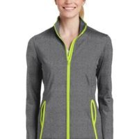Ladies Sport Wick ® Stretch Contrast Full Zip Jacket Thumbnail