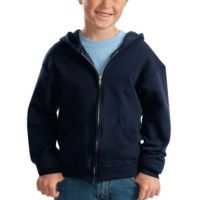 Youth NuBlend® Full Zip Hooded Sweatshirt Thumbnail